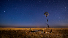 _05A0206-1 (wximagery) Tags: moonlight stars astrophotography windmill farm farmland farmscape wateringhole field greatplains