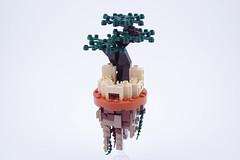 Floating Rock Castle (BrickinNick) Tags: lego castle floating rock tree moc creation twitch brickbuilding