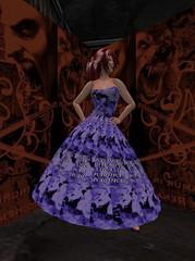 Summer Dress - Galaxy - Demo_001 (hmkagm) Tags: maitreya with flexy skirt silver dragon summer flowers pleated
