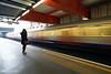 Lines and architecture - Paddington Station (Luke Agbaimoni (last rounds)) Tags: london londonunderground londontube lighttrails long train transportforlondon trains transport paddington shadows silhouette