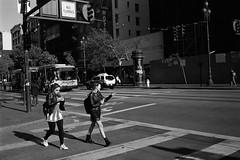 Look into your eyes and they look dead... (all the bulbs are spent...) Tags: 7thstreet bayarea calaverasmakeup california crosswalk diadelosmuertos glasgowsmile kodaktrix400 leicam6 marketstreet muni norcal sanfrancisco streetphotography voigtländernoktonclassic35mmf14
