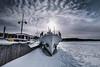 frozen harbor (TeRo.A) Tags: lahti satama harbor port vesijärvi lake järvi frozen jää lumi snow sun aurinko vastavalo taivas