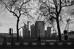 Southbank Place - 7.3.18 (Ryan Trower Photography) Tags: skyscrapers london architecture construction black white building structure skyscraper lines sky monochrome geometric city urban street tower facade concrete glass towers photography architect architects residential commercial sigma samyang leica leicam10 m10 southbank southbankplace
