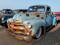 Rusty 1954 Chevrolet 3100 5 Window Pickup Truck (J Wells S) Tags: 1954chevrolet3100pickuptruck rust rusty crusty chevy advancedesign whitewalltires junk milford cruisein cincinnati ohio milfordcruisein alltypesoftransport sky 5windowpickuptruck