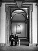 2018 - Milano - Brera (alesalina) Tags: 2018 bw milan milano monochrome donne door monument pinacotecabrera women