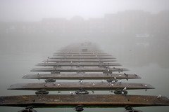 Foggy Preston Docks (Tony Worrall) Tags: preston lancs lancashire city england northern uk update place location north visit area county attraction open stream tour country welovethenorth nw northwest britain english british gb capture outside outdoors caught photo shoot shot picture captured ashtononribble ashton prestondocks prestonmarina docks marina wet water waterside mist fog weather moist dock grim sky foggy