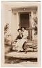 Vintage Snapshot : Man with Rifle & Lady On Lap (CHAIN12) Tags: vintage photo scan scanned couple shotgun gun rifle woman man lap house porch posed portrait chair schnbblyshotgunladyonlap