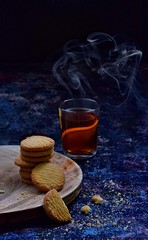 Tea time... (Sukhi Jabed) Tags: foodphography foodart foodstyling foodphoto food foodgraphy cookies biscuits tea indoor stilllife colors nikonphotography bangladesh