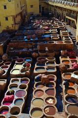 Leather tannery of Fez, Morocco (Bokeh & Travel) Tags: leather tannery morocco marocco traditional colorful kingdomofmorocco architecture beautiful artisans