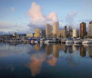 Honolulu Boat Harbor at Dusk