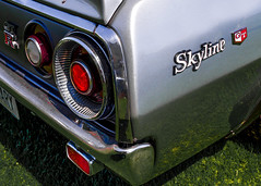 skyline gtr '72 (fe2cruz) Tags: car automobile japanese japaneseclassiccarshow longbeach datsun nissan skyline 4thgen 1972 kenandmary kenmeri c110 gtr 7dwf