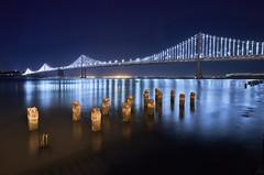 Bay Bridge Lightshow, San Fran (swissukue) Tags: baybridge sanfrancisco usa sonya9 nightshot lights greatphotographers greaterphotographer greatestphotographer