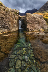 Washing Machine Falls, Glen Brittle, Isle of Skye, Scotland (MelvinNicholsonPhotography) Tags: washingmachinefalls fairypools glenbrittle isleofskye skye waterfall rock ain stormyskies storm skies clouds scotland