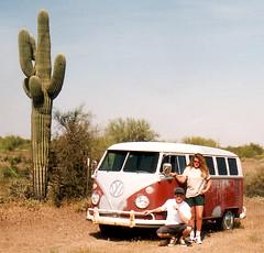 Arizona-Split (chilsta) Tags: vw volkswagen split splitscreen oldbus camper 1967 1995 cactus desert bluesky