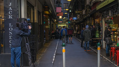 ABC Camera man (RP Major) Tags: camera man video degraves street alley melbourne victoria streetscape people