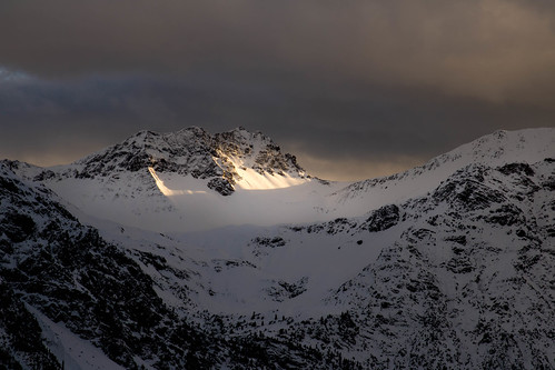 glowing alps