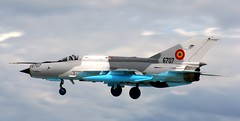 Lancer landing Lossie (calzer) Tags: canon lancer mig21 romanian air force jet fighter lossiemouth nato
