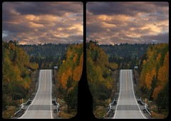 Setting sun over Route 129 3-D / CrossEye / Stereoscopy (Stereotron) Tags: ontario canada road route sunrise evening north america province forest woods outback backcountry wilderness indiansummer autumn fall quietearth 3dframe fancyframe floatingwindow spatialframe stereowindow window crosseye crosseyed crossview xview cross eye pair freeview sidebyside sbs kreuzblick 3d 3dphoto 3dstereo 3rddimension spatial stereo stereo3d stereophoto stereophotography stereoscopic stereoscopy stereotron threedimensional stereoview stereophotomaker stereophotograph 3dpicture 3dglasses 3dimage hyperstereo canon eos 550d chacha singlelens kitlens 1855mm