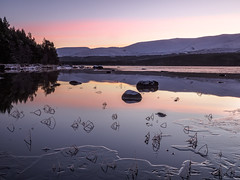 Minus Eight at Morlich (Stoates-Findhorn) Tags: morlich highland rothiemurchus sunrise aviemore dawn scotland twilight 2018 loch cold frozen ice glenmore unitedkingdom gb