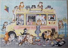 Crazy Cats… & Sunset Ices (Linda Jane Smith) (Leonisha) Tags: puzzle jigsawpuzzle crazycats lindajanesmith cats katzen comical ravensburger