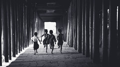 Children runing in the old temple, Salay Bagan Myanmar (Patrick Foto ;)) Tags: asia asian back bagan boy burma cambodia child childhood children countryside culture family fun funny group happy kids laos life lifestyle little mandalay myanmar nature people person play poor portrait rice run running smile summer temple thai thailand tradition traditional travel vietnam vintage young