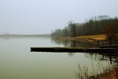 Winter Afternoon - Lake Galena (Jim DeFazio) Tags: lakegalena peacevalleypark buckscounty pa pennsylvania misty fog foggy boatdock dock pier mistymorning tranquil peaceful winter paleblue blue brown countryscene countryside country rural outdoors minimal minimalist