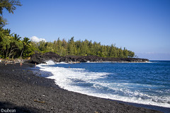 Black sand beach (xubean) Tags: hawaii hawaiiisland photography nepaliphotographer nepali