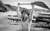 Mikey @ Sandy Beach 07 (JUNEAU BISCUITS) Tags: blackandwhitephotography blackandwhite hawaii portrait portraiture model malemodel sandybeach nikon hawaiiphotographer haku lei paddler canoe beach