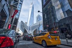 The Oculus (cactusflier) Tags: newyorkcity travel oculus wtc taxi street buildings