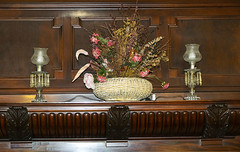 Cleveland Room Mantel (David441491) Tags: mantel fireplace flowers lamps wood architecture casewesternreserveuniversity thwingcenter