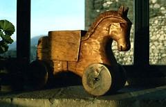 Sunset (Mattia Camellini) Tags: canoscan9000fmarkii canoneos5 analog film35mm kodakgold100 mattiacamellini vintagecamera vintagelens horse cavallo sculpture