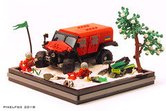 Ghe-O Rescue (Pixel Fox) Tags: gheo rescue lego diorama vignette moc 4x4 offroad