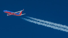 Southwest 737 FL360 (Jakub Wil.) Tags: jump seat jumpseat cockpit flight deck view photo photography aviation aircraft spotting chemtrails contrails high altitude airbus a320 jetblue southwest boeing 737
