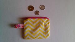 Porta-moedas Quadradinho - Chevron Amarelo (O Jardim Acessórios) Tags: portamoedas carteirinha carteira de tecido portaníquel costura craft