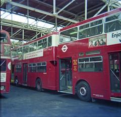 New DMS inside BX on 30-1-77. Copyright Ian Cuthbertson (I C railway photo's) Tags: dms bus bx bexleyheathgarage
