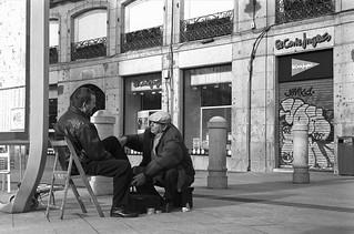 Puerta del Sol, Madrid. (papel)