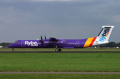 DHC8 G-PRPL Fly Be violet (Avia-Photo) Tags: airport airline airliner aviacion aeroplane airplane aircraft airlines airliners aviation avion ams eham flugzeug luftfahrt plane planespotting pentax polderbaan spotter schiphol turboprop twin