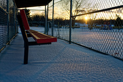 Snow Bench (athomsfere) Tags: snow park omaha bench baseball 雪 オマハ 園 アメリカ в850 nikon d850