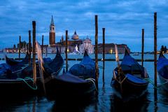 San Giorgio blue classic (Blende1.8) Tags: sangiorgiomaggiore venice venezia venedig bluehour blauestunde boat boats boot boote gondel gondeln gondola italy italien lagune lagoon canal kanal abend evening nightscape movement color colour colours carstenheyer panasonic dmcg5