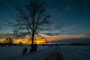 Snowy Sunset #7 (tquist24) Tags: indiana nikon nikond5300 clouds cold evening fence geotagged road sky snow sunset tree trees winter middlebury unitedstates