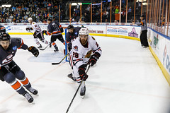 """Kansas City Mavericks vs. Indy Fuel, February 17, 2018, Silverstein Eye Centers Arena, Independence, Missouri.  Photo: © John Howe / Howe Creative Photography, all rights reserved 2018 • <a style=""""font-size:0.8em;"""" href=""""http://www.flickr.com/photos/134016632@N02/39490836305/"""" target=""""_blank"""">View on Flickr</a>"""