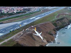 Footage shows plane stuck on cliff edge after skidding off runway in Turkey (Xtrenz) Tags: 2018 airplane blacksea caughtoncamera caughtontape caughtonvideo cliff cliffedge cliffs crash crashes crew edge flier flights fly flying footage passengers plane planecliff planecliffturkey planecrash planeoncliff planeslipsdowncliff planes runway sea shows skidding skids stuck theblacksea theguardian trabzon trabzonairport trabzonrunway turkey turkeyplane turkeyplanecliff turkish turkishplane world
