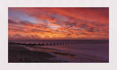Fire in the Sky (hall1705) Tags: fireinthesky sea seascape clouds morning longexposure beach beacheslandscapes felpham westsussex nikon1j5 outdoor dawn sunrise