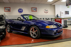 1996 Ford Mustang GT Convertible (Rivitography) Tags: rare expensive milford connecticut 2018 canon rebel t3 adobe lightroom rivitography ford mustang blue car vehicle gt convertible