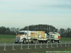FV Martin Trucking Kenworth T800, Truck# 98 (Michael Cereghino (Avsfan118)) Tags: fv f v martin trucking co company kenworth kw t800 t 800 flatbed doubles double trailer trailers 4020 set 40 20 lumber load