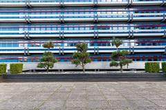 feng shui - tower (Rasande Tyskar) Tags: hamburg city nord gebäude tower hochhaus büro büros facade fassade office commerce trees green feng shui concrete