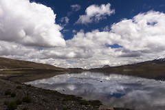 Lago Chungará (José Antonio Morales) Tags: chungara lake reflection chile clouds volcano mountain canon sl1 sky bolivia altiplano mirror