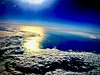 Bass Strait Sun (Remko Tanis) Tags: altitude bass clouds flight flying sky strait sun travel viewing water