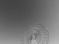 Odaiba, Tokyo (gt223) Tags: park amusement minimal minimalist minimalism odaiba tokyo japan urban city blackandwhite bw