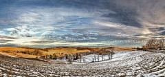 8R9A0681-86Ptzl1TBbLGER2 (ultravivid imaging) Tags: ultravividimaging ultra vivid imaging ultravivid colorful canon canon5dm3 clouds sunsetclouds scenic sky winter evening twilight snow fields farm barn vista pennsylvania pa panoramic painterly